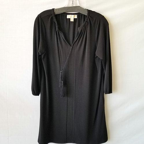 Michael Kors Black Dress with Tassle Ties - S