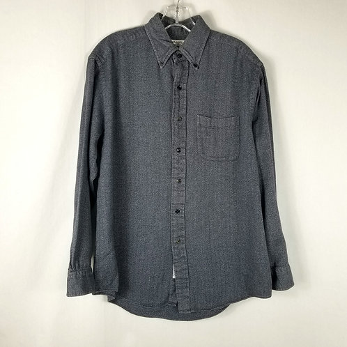 Brooks Brothers Navy Herringbone Sport Shirt - M