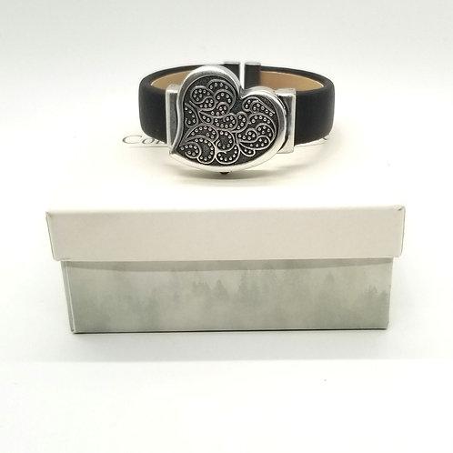 Coldwater Creek Heart Bracelet Watch -New