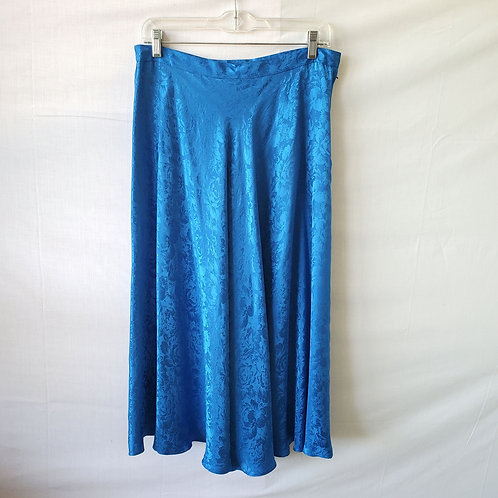 Vintage Papell Too Royal Blue Silk Skirt - size 12