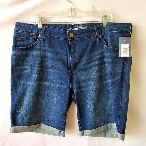 Universal Thread Cuffed Bermuda Shorts - 22W - New