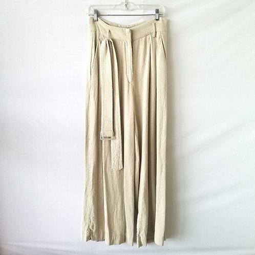H & M Wide Leg Linen Blend Pants - size 8