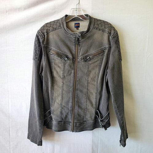 Jag Gray Denim Moto Jacket - M