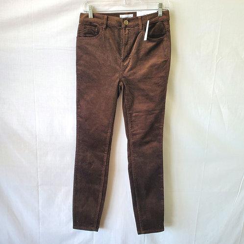 LOFT High Waist Skinny Corduroy Jeans - size 26/2 - New