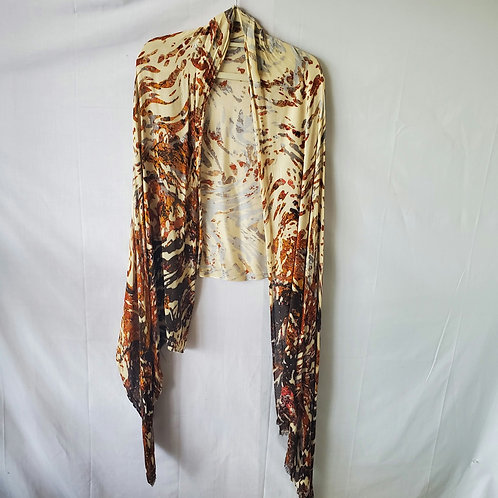 Collection Eighteen Viscose Abstract Print Shawl