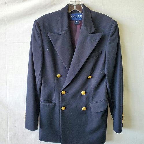 Ralph Lauren Navy Wool Double Breasted Blazer - size 4