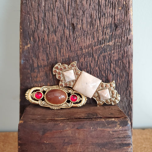 Vintage Style Brooches - Set of 2