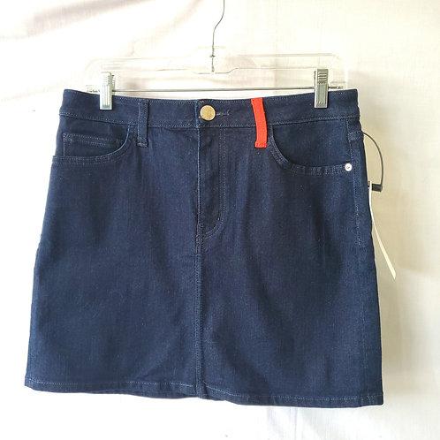 Current/Elliott Dark Wash Denim Miniskirt with Contrast Pocket - size 30 - New