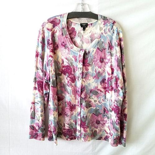 Talbots Merino Wool Floral Cardigan - 3X