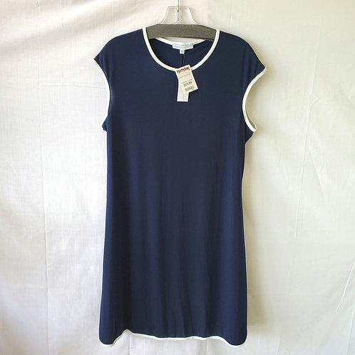 Annalee + Hope Navy Dress with White Trim - XL - New