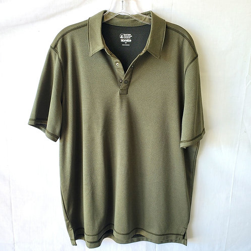 EMS Tech-Wick Textured Olive Polo - L