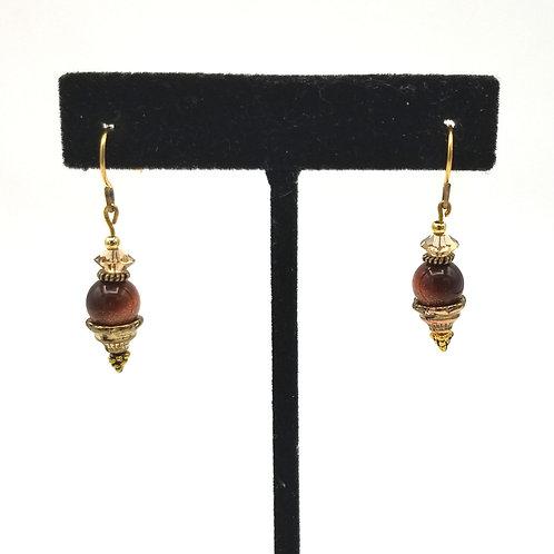 Goldstone Bead Earrings