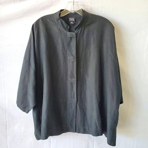 Eileen Fisher Linen & Silk Dolman Sleeve Top - M