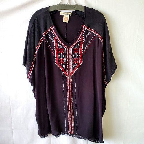 Flying Tomato Rayon Embroidered Top - L