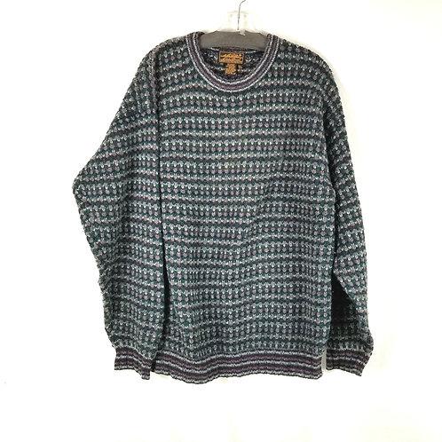 Eddie Bauer Shetland Wool Sweater - M
