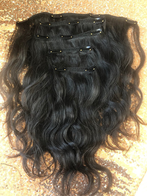 Cambodian Wavy Clip In Set