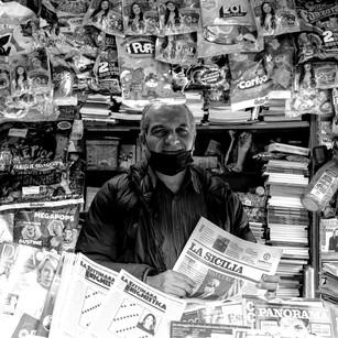 Maurizio Nicotra, il giornalaio