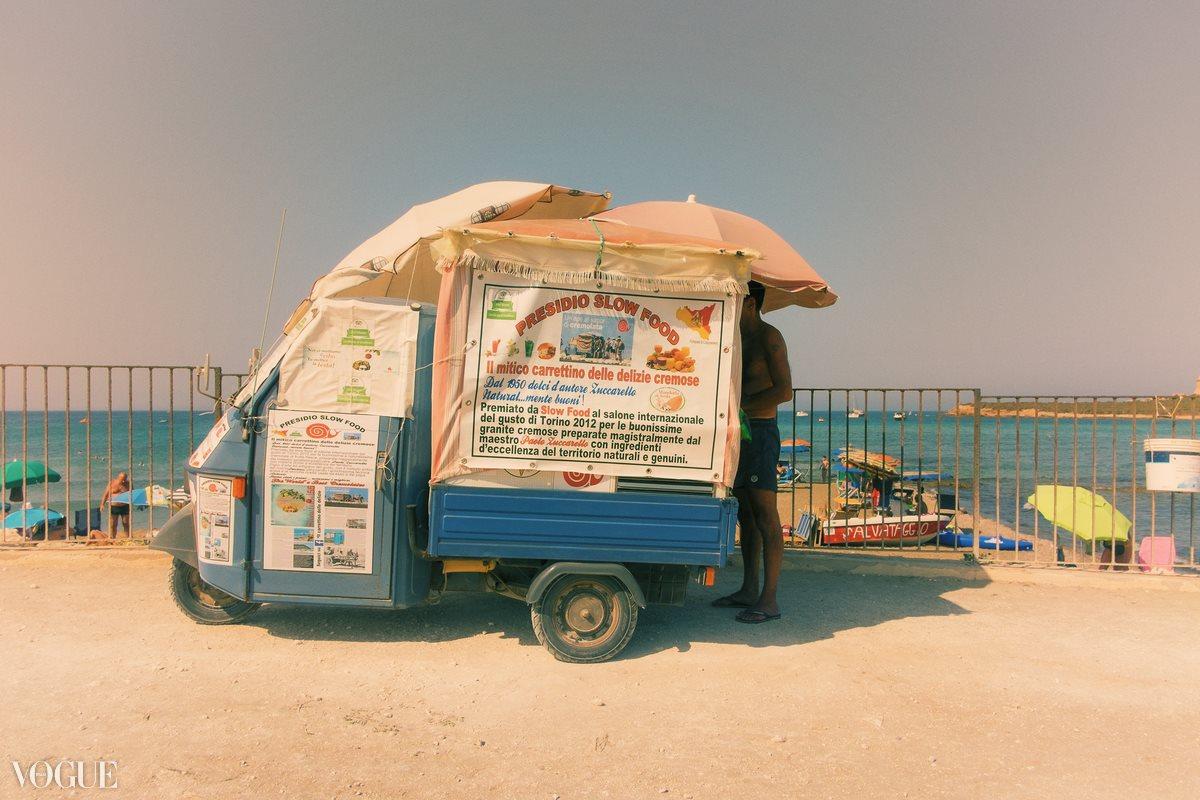 Il carrettino delle delizie cremose, Portopalo, Sicilia