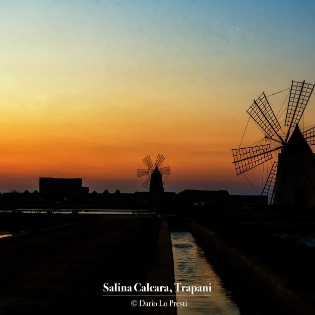 Salina Calcara al tramonto, Paceco, Trapani