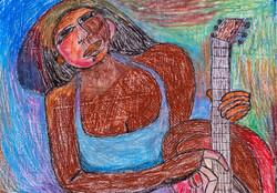 Donna con chitarra