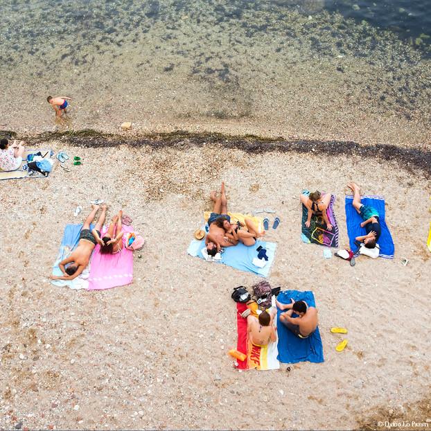 On the beach, Sicily