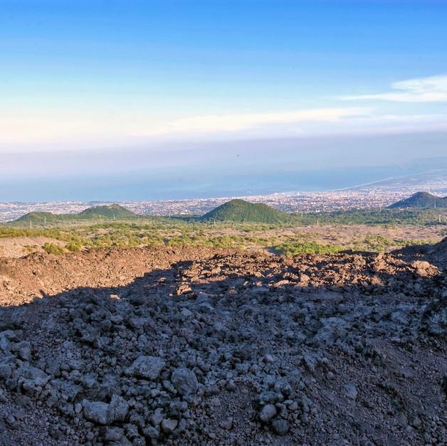 Catania vista dal Monte Gemmellaro, Etna