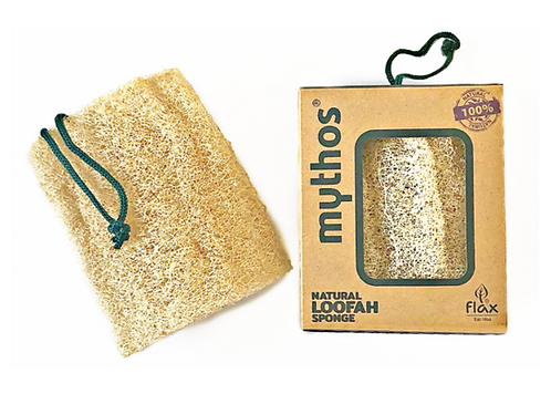Raw Loofah 15cm with rope  - ECO GIFT EDITION