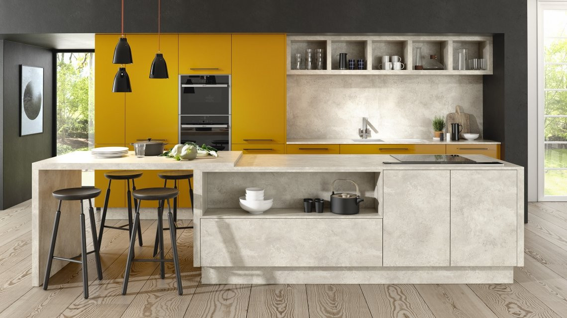 Lucido Yellow Gloss and Chalk Ceramic