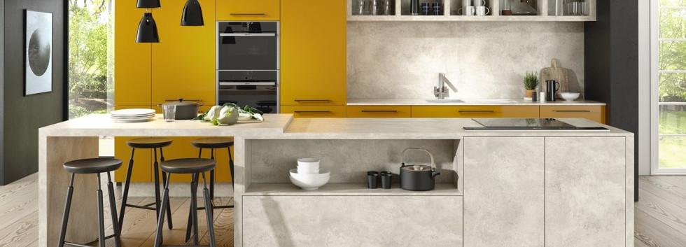 Lucido Yellow Gloss and Chalk Ceramic
