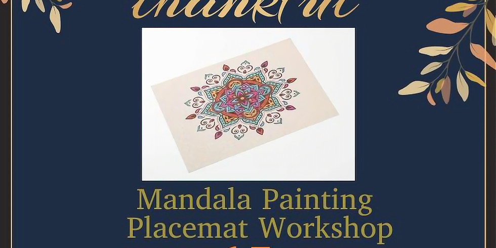 Mandala Painting Placemat Workshop