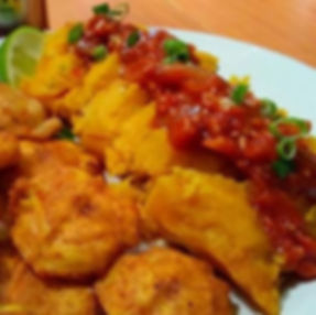 Tamales with tostones.jpg