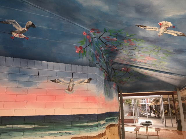 Samantha Wortelhock Mural Artist and Visionary Painter Tweed Heads Library 10