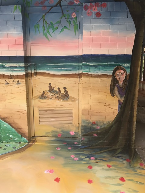 Samantha Wortelhock Mural Artist and Visionary Painter Tweed Heads Library 1