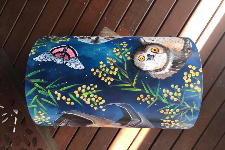 Owls, flying fox, glider, possum,moth 7.