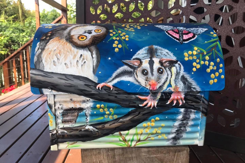 Owls, flying fox, glider, possum,moth 4.
