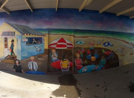 Beach cafe scene at Ballina Public School