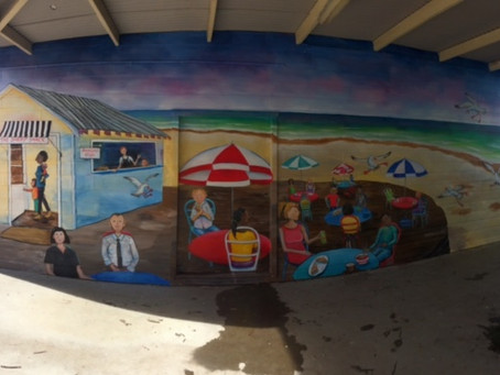 Beach cafe scene at Ballina Public School