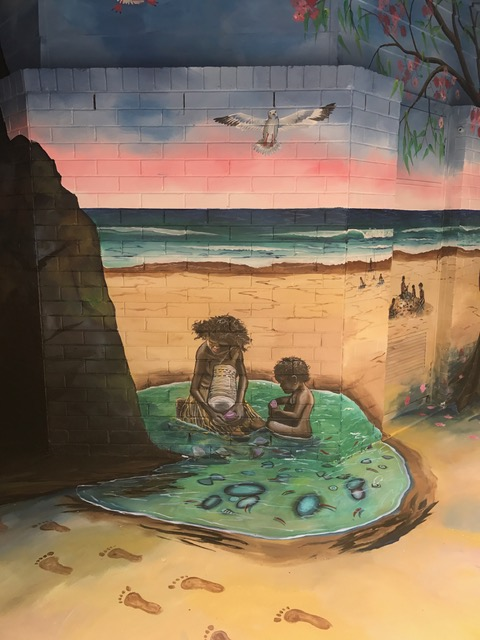 Samantha Wortelhock Mural Artist and Visionary Painter Tweed Heads Library 2