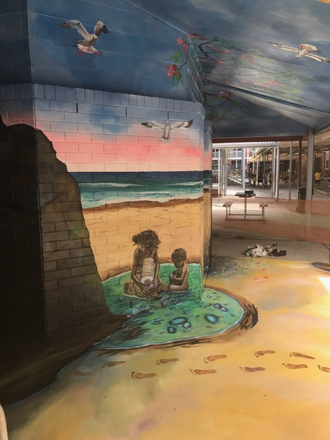 Samantha Wortelhock Mural Artist and Visionary Painter Tweed Heads Library 6