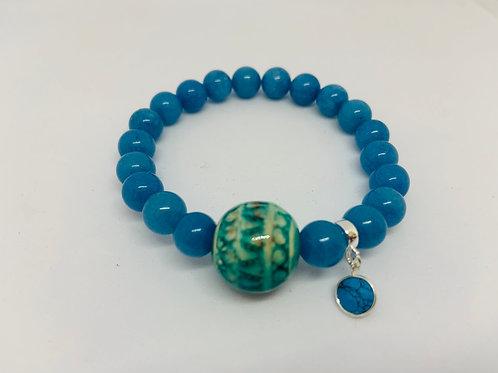 Bracelet en Jade bleue Collection Clay