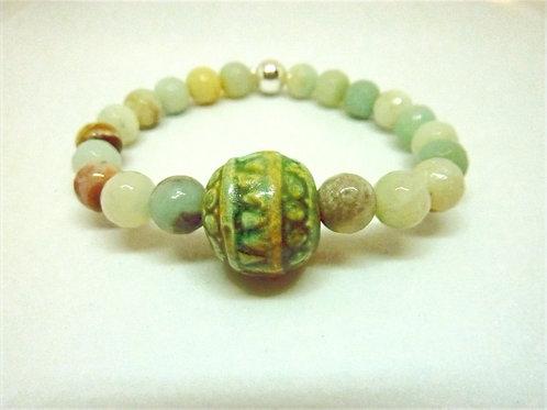 Bracelet en Amazonite Collection Clay
