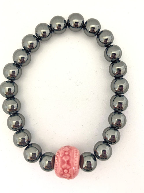 """Bracelet en Hématite Collection Clay """"Rondes"""""""