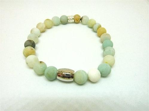 Bracelet en Amazonite matte Collection BIG