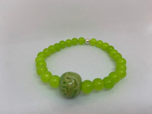 Bracelet en Jade verte Collection Clay