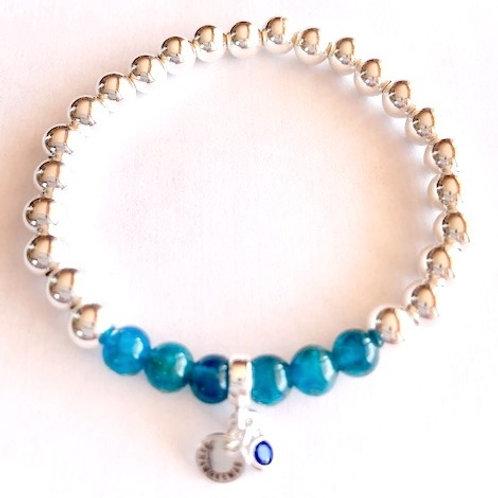 Bracelet en Argent 925 et Apatite