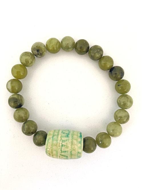 """Bracelet en Jade """"Khmer Barel"""""""