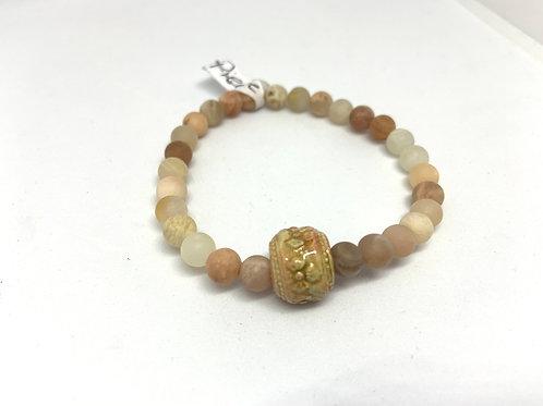 """Bracelet en Pierre de soleil Collection Clay  """"Rondes"""""""