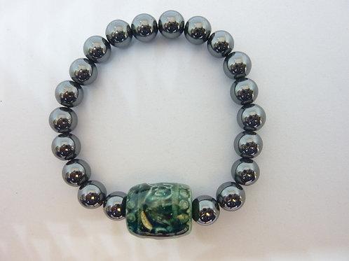 """Bracelet en hématite """"Elephant Barel"""""""