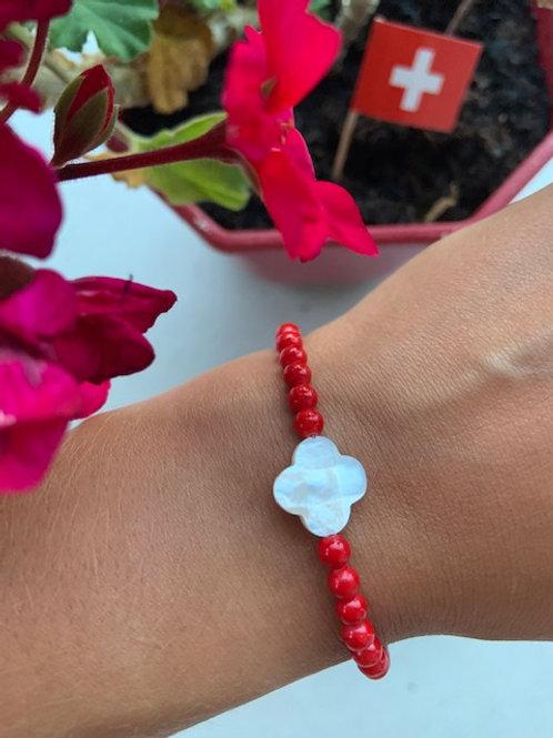 Bracelet en Jade Mashan rouge