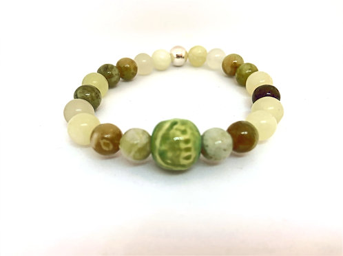 "Bracelet en Jade Collection Clay ""Rondes"""